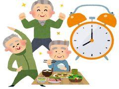 一人暮らしの高齢者が規則正しい生活をできているかどうか
