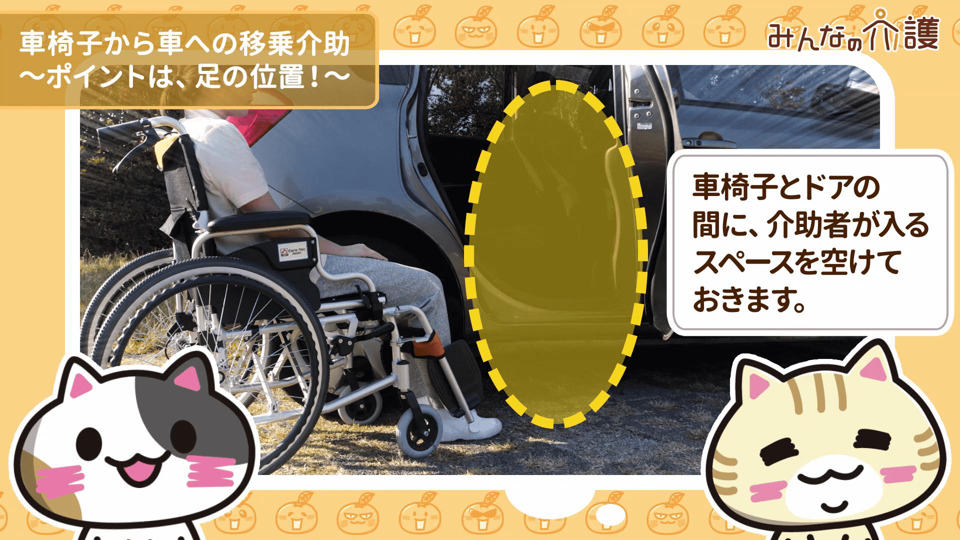 車椅子の位置