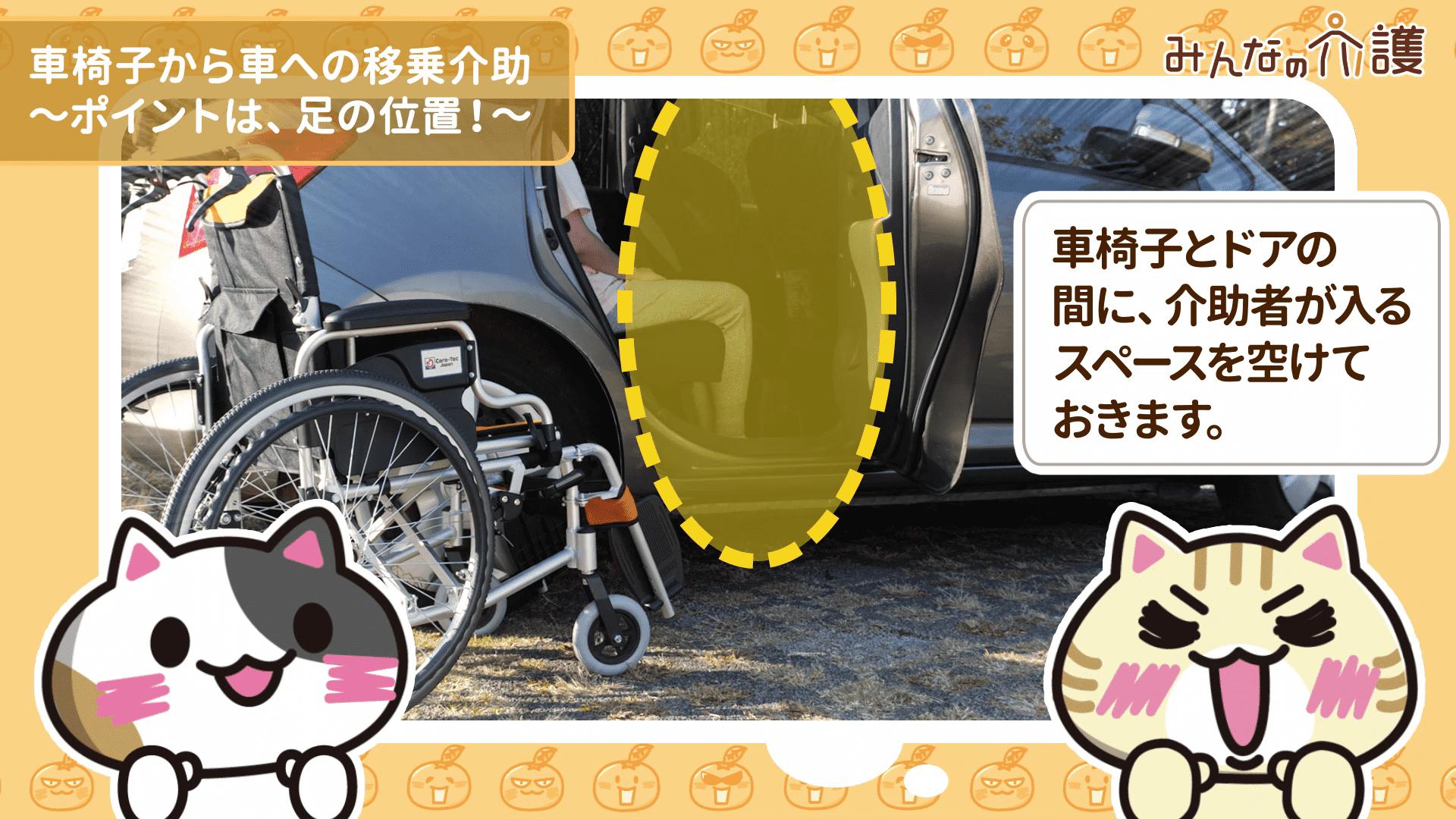 車椅子とドアの距離